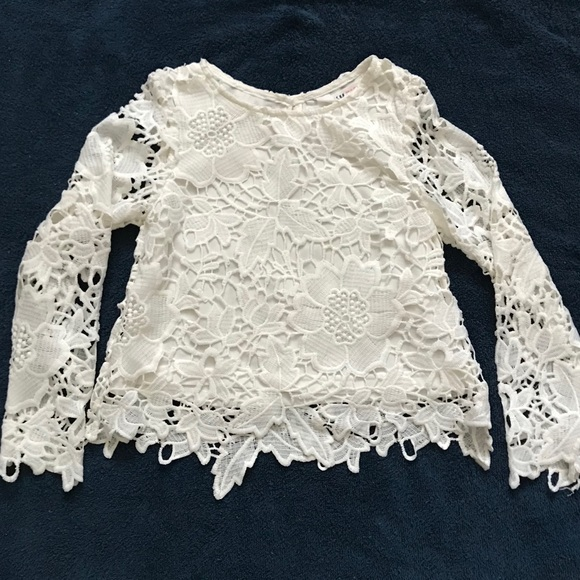 H&M Other - H&M Lace Long Sleeve Girl Blouse. Size 5-6Y